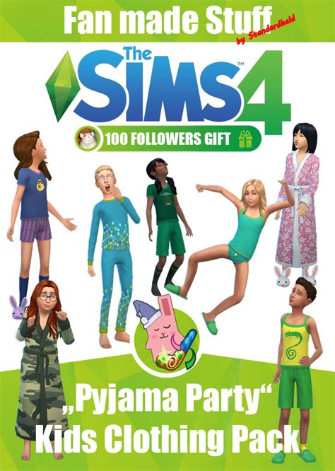 Pyjama Set for Kids by Standardheld | Sims 4 mods, Sims