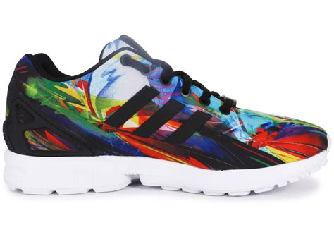 adidas Zx Flux Print Multicolore - Chaussures Baskets