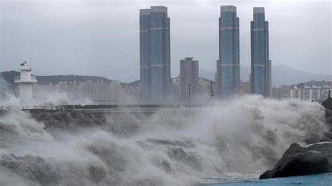 Typhoon Haishen lashes South Korea after battering