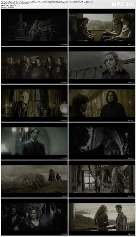 Download Harry Potter and the Half Blood Prince 2009 2160p