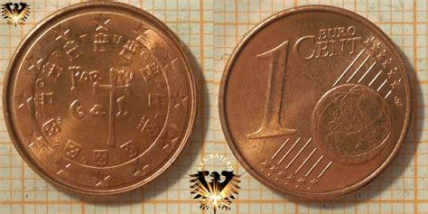 1 Euro-Cent, Portugal, 2002, nominal