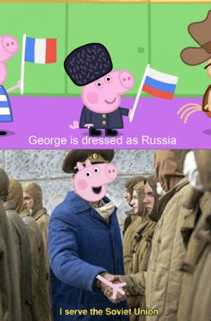 George Is Dressed as Russia I Serve the Soviet Union Oink