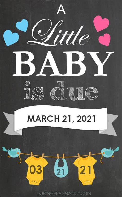 Due Date: March 21, 2021   During Pregnancy