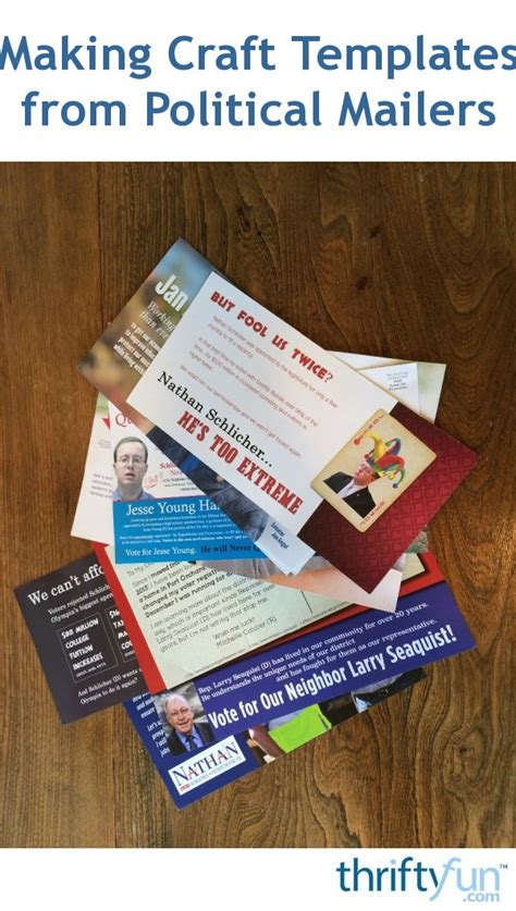 Making Craft Templates from Political Mailers   ThriftyFun